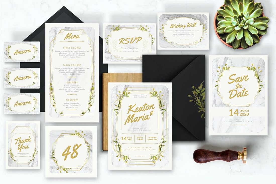 wedding color scheme white gold 1