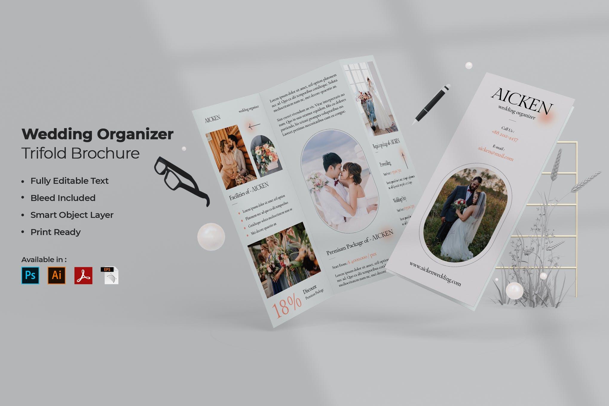 wedding trifold brochure