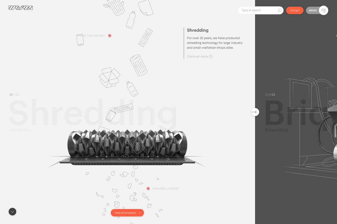 split screen web design