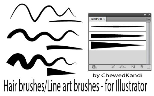 Line Art Brush Illustrator : Weekly freebies outstanding free illustrator brush