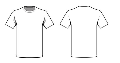 Blank Clothing Design Templates Jersey T shirt Template by