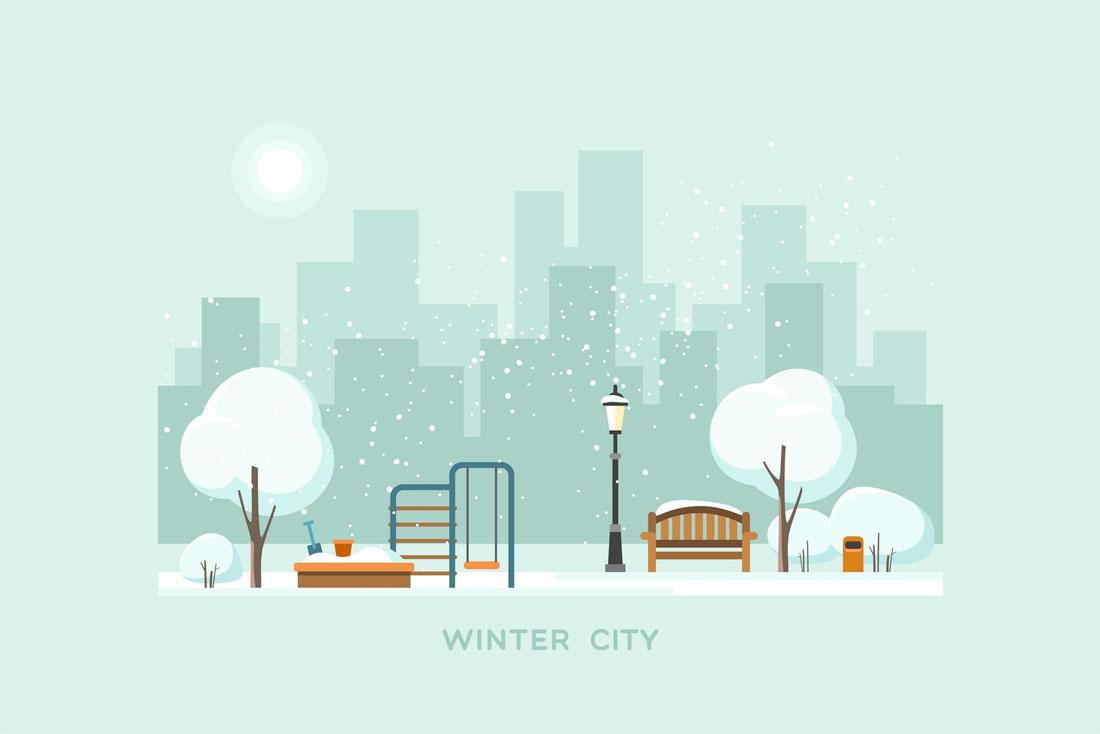 winter-city Christmas Graphic Design: 5 Tips for Classy Festive Design design tips