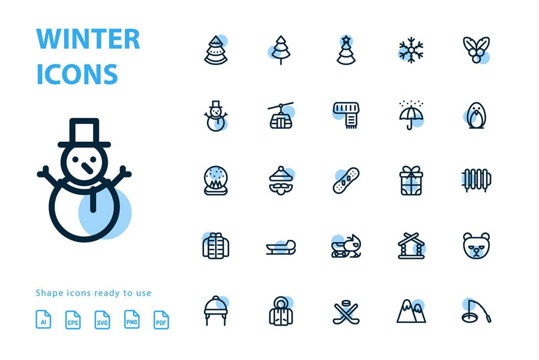 winter-icons Icon Design in 2020: The Key Trends design tips