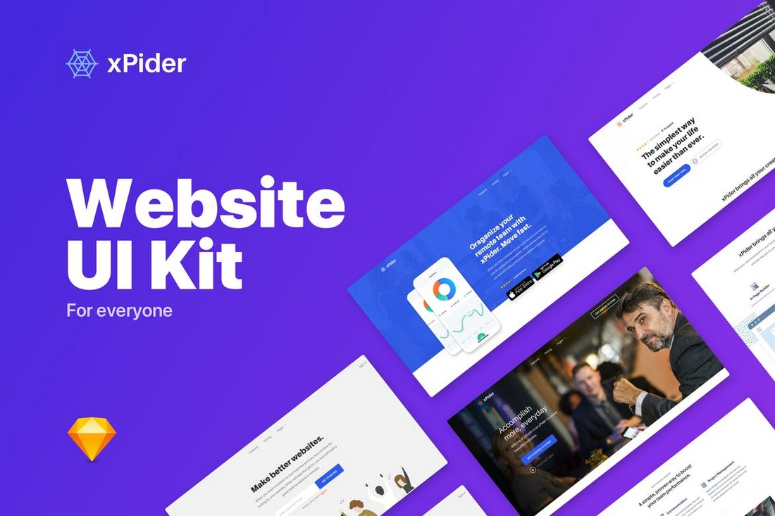 xPider-Website-UI-Kit-Sketch-Template 30+ Best Sketch Templates of 2019 design tips