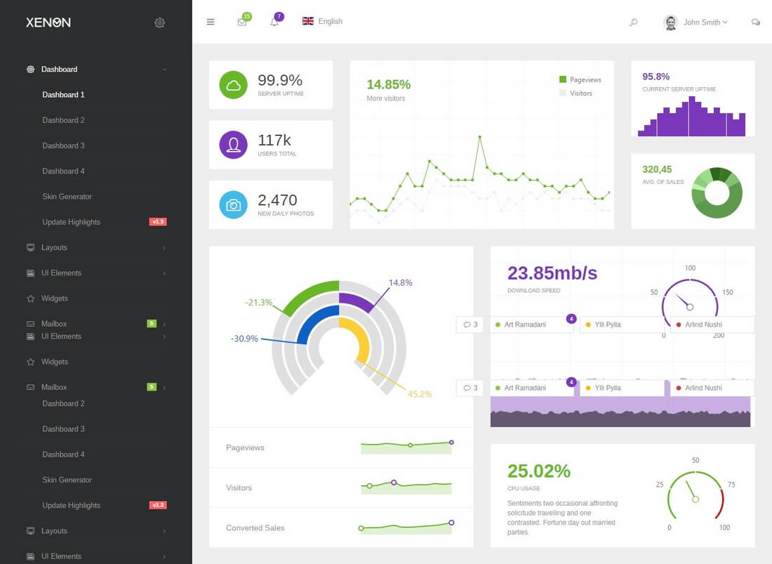 xenon 40+ Best Bootstrap Admin Templates of 2019 design tips