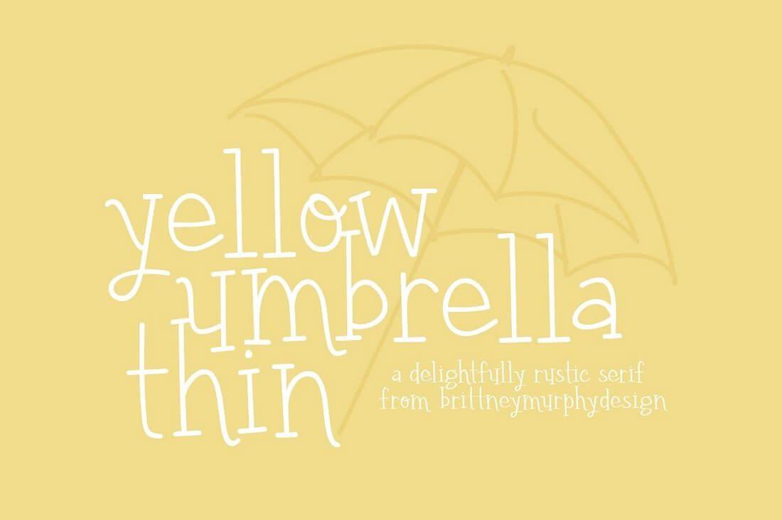 yellow-umbrella-thin- 100+ Best Modern Serif Fonts design tips