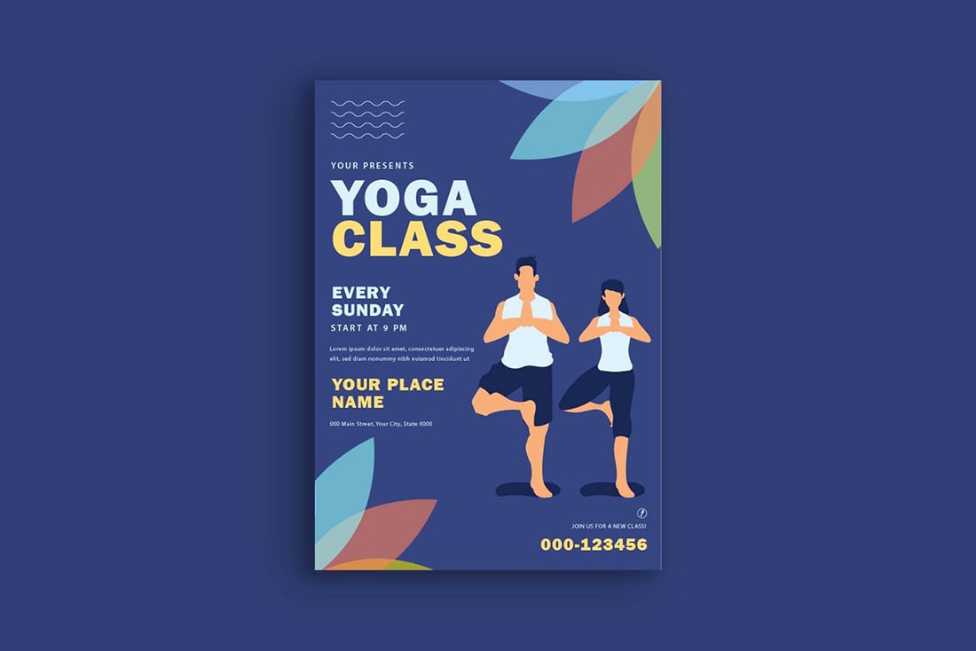 yoga-poster 20 Stylish Poster Color Schemes design tips