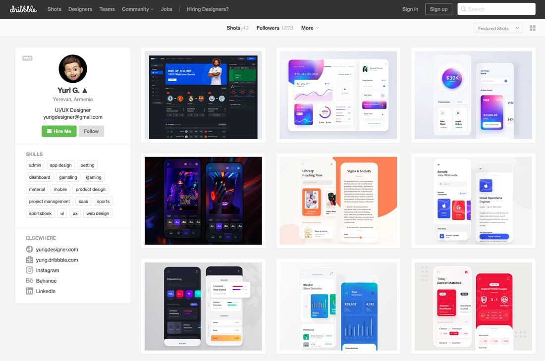 free portfolio website templates