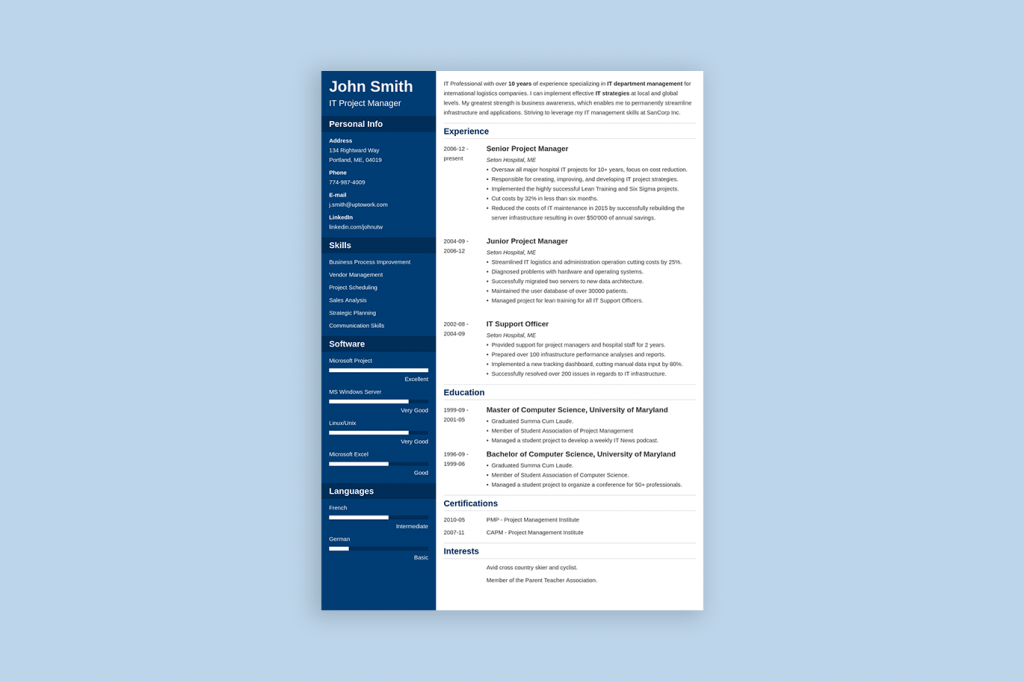 50 Best CV  amp  Resume Templates