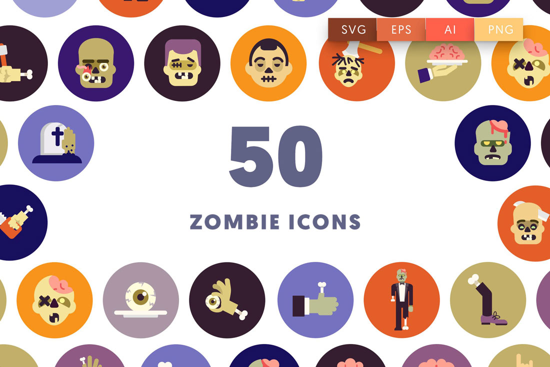 zombie-icons Halloween Graphic Design: 10 Spooky Tips & Ideas design tips